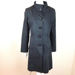 Via Spiga Trench Coat with Leopard Print Lining